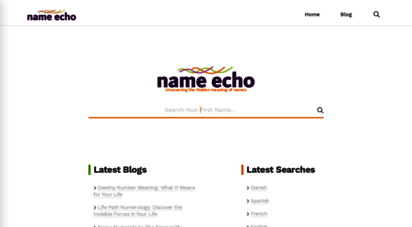 nameecho.com - name echo - uncovering the hidden meaning of names by eida goodman
