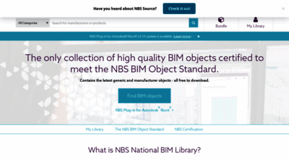 nationalbimlibrary.com - nbs national bim library - free-to-use bim objects
