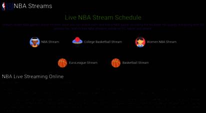 nbastream.nu - live nba streaming  nba online  nbastream