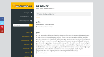 ne-demek.net - web site unavailable