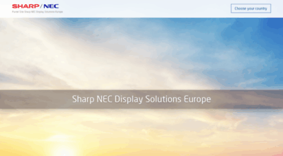 nec-display-solutions.com - portal site nec display solutions europe gmbh