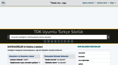 nedirara.com - nedir ara  tdk uyumlu türkçe sözlük