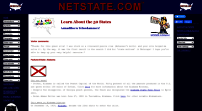 netstate.com - state symbols, 50 state capitals, flags, maps, geography, facts, songs, history, famous people from netstate.com