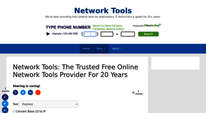 network-tools.com - network-tools.com: ping, traceroute, whois & more