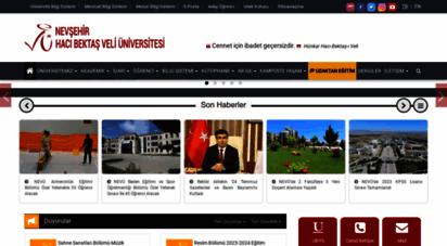 nevsehir.edu.tr - nevşehir üniversitesi