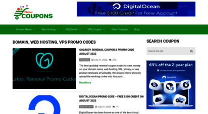 newcoupons.info - new coupons - domain, hosting and vps promo codes
