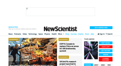 newscientist.com - new scientist  science news and science articles from new scientist