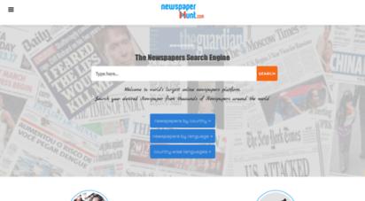 newspaperhunt.com - newspaperhunt : read all online newspaers in the world