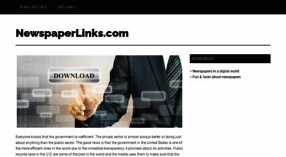 newspaperlinks.com - digital records of newspapers - newspaperlinks.com