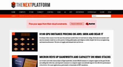 nextplatform.com - the next platform - the next platform