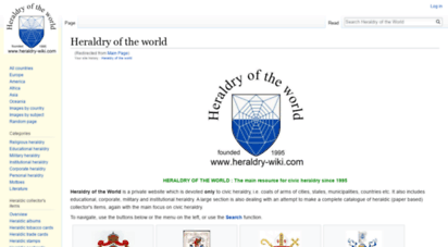 ngw.nl - heraldry of the world - coats of arms of all countries in the world crests
