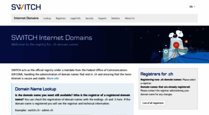 nic.ch - internet domains