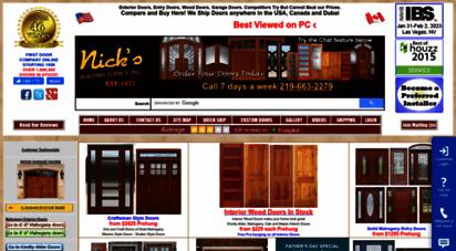 nicksbuilding.com - exterior wood doors interior wood doors and wood garage doors