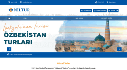 niltur.com - ana sayfa - niltur turizm  bu dünya bizim memleket