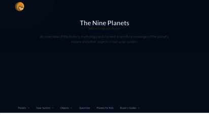 nineplanets.org - the nine planets of the solar system  eight planets without pluto