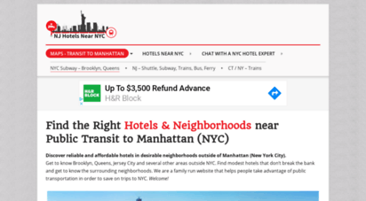 njhotelsnearnyc.com - hotels outside nyc in nj, brooklyn, queens & ct