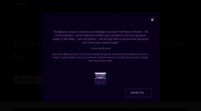 nla.gov.au - home  national library of australia