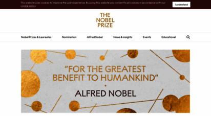 nobelprize.org - the official website of the nobel prize - nobelprize.org