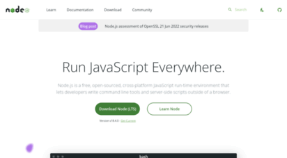 nodejs.dev - run javascript every.