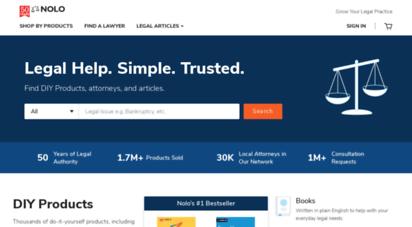 nolo.com - legal encyclopedia, legal forms, law books, & software  nolo