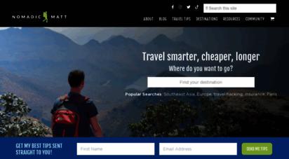 nomadicmatt.com - nomadic matt´s travel site
