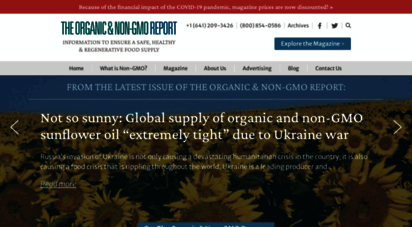non-gmoreport.com - the organic & non-gmo report  safe, healthy, sustainable food supply news and information
