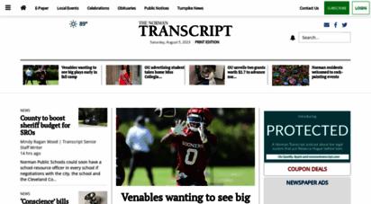 normantranscript.com - homepage » the norman transcript