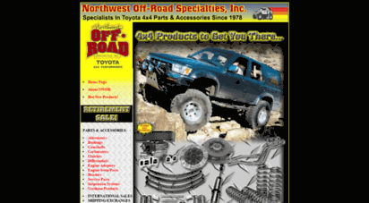 Welcome to Northwestoffroad com - Toyota 4x4 truck parts