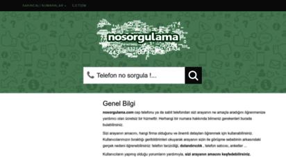 nosorgulama.com - bu numara beni neden arıyor?  nosorgulama.com