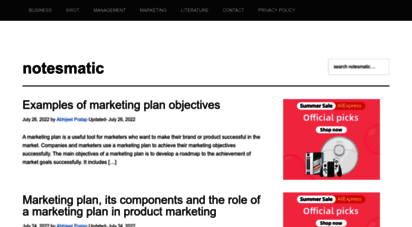 notesmatic.com - notesmatic - notes, research and stats.