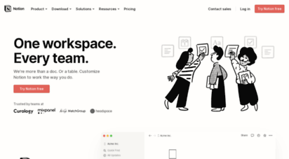 notion.so - notion - the all-in-one workspace for your notes, tasks, wikis, and databases.