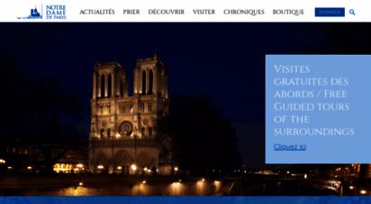 notredamedeparis.fr - cathédrale notre dame de paris