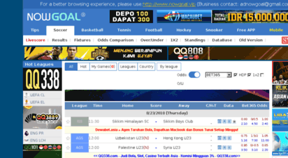 nowgoal.id - nowgoal livescore soccer real-time scores live skor bola
