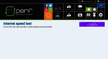 nperf.com - internet speed test : test your broadband connection - nperf.com
