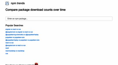 npmtrends.com - npm trends: compare npm package downloads