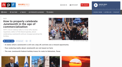 npr.org - npr choice page