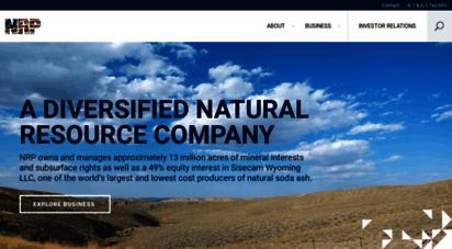 nrplp.com - natural resource partners l.p. - nrp