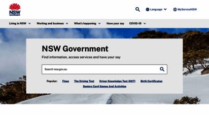 nsw.gov.au - home  nsw government
