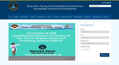 nurseszone.in - nurses zone - nursing jobs  news  articles  blogs  events  books