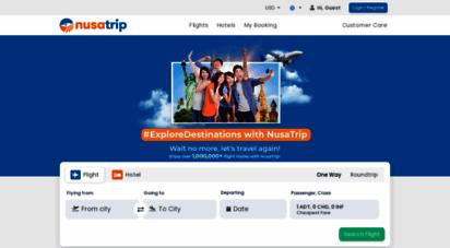 nusatrip.com - flights & hotels - online travel - domestic & international - cheap prices