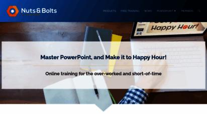 nutsandboltsspeedtraining.com - nuts & bolts speed training for powerpoint  powerpoint training for busy people