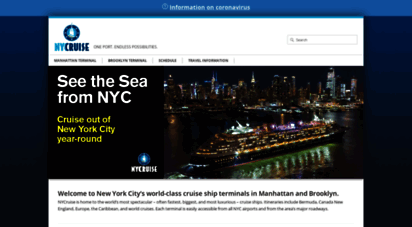 nycruise.com - nycruise  one port. endless possibilities.