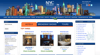 nyctourist.com - new york city - nyc hotels - broadway shows