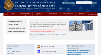 Welcome to Nyeb uscourts gov - Eastern District of New York