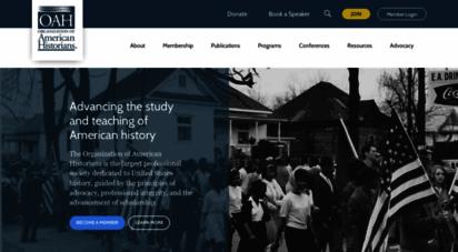 oah.org - organization of american historians: home