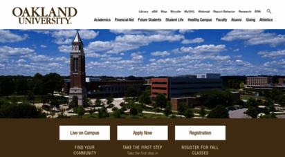 oakland.edu - oakland university