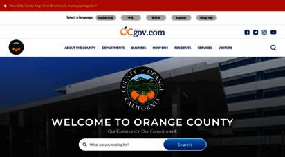 ocgov.com - orange county, california - homepage