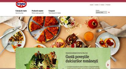 oetker.ro - homepage - dr. oetker