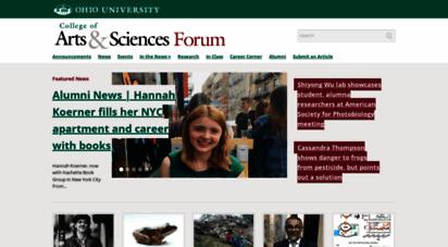 ohio-forum.com - ohio university  college of arts & sciences — newsletter of the ohio university college of arts & sciences