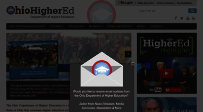 ohiohighered.org - homepage  ohio higher ed